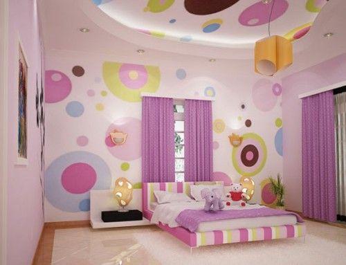 Cute Purple Bedroom Design for Beautiful Teen Girls Bedrooms