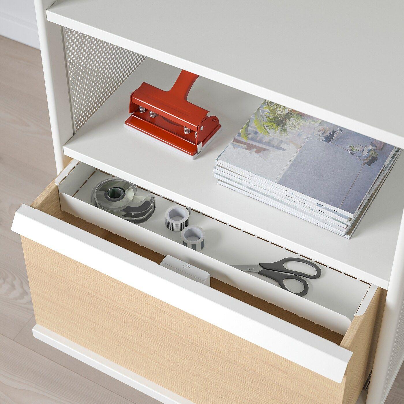 Bekant Aufbewahrung Mit Nfc Schloss Netz Weiss In 2020 Ikea