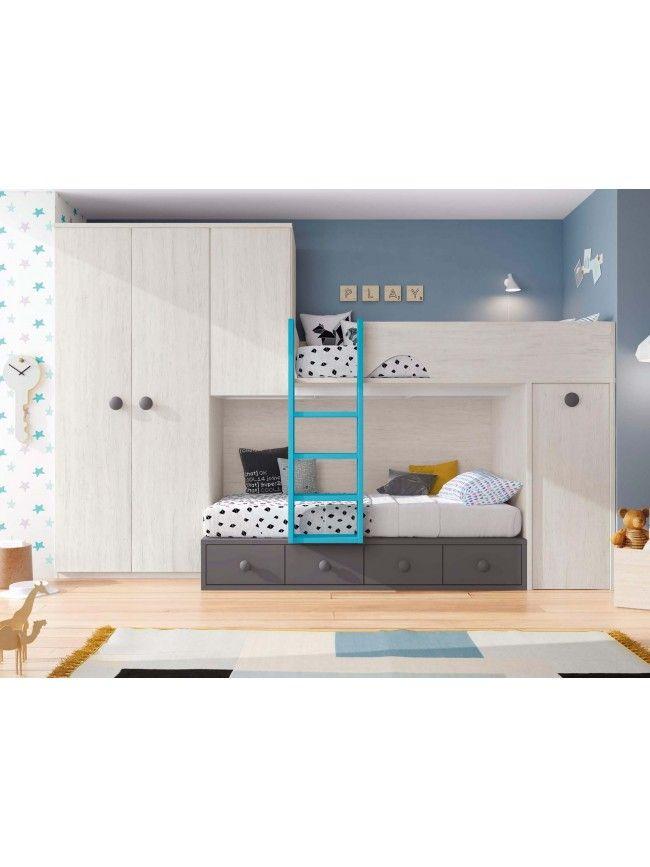 Lits Superposes Avec Rangements Personnalisable F215 Glicerio Lits Superposes Avec Rangement Idee Decoration Chambre Meuble Chambre D Enfants