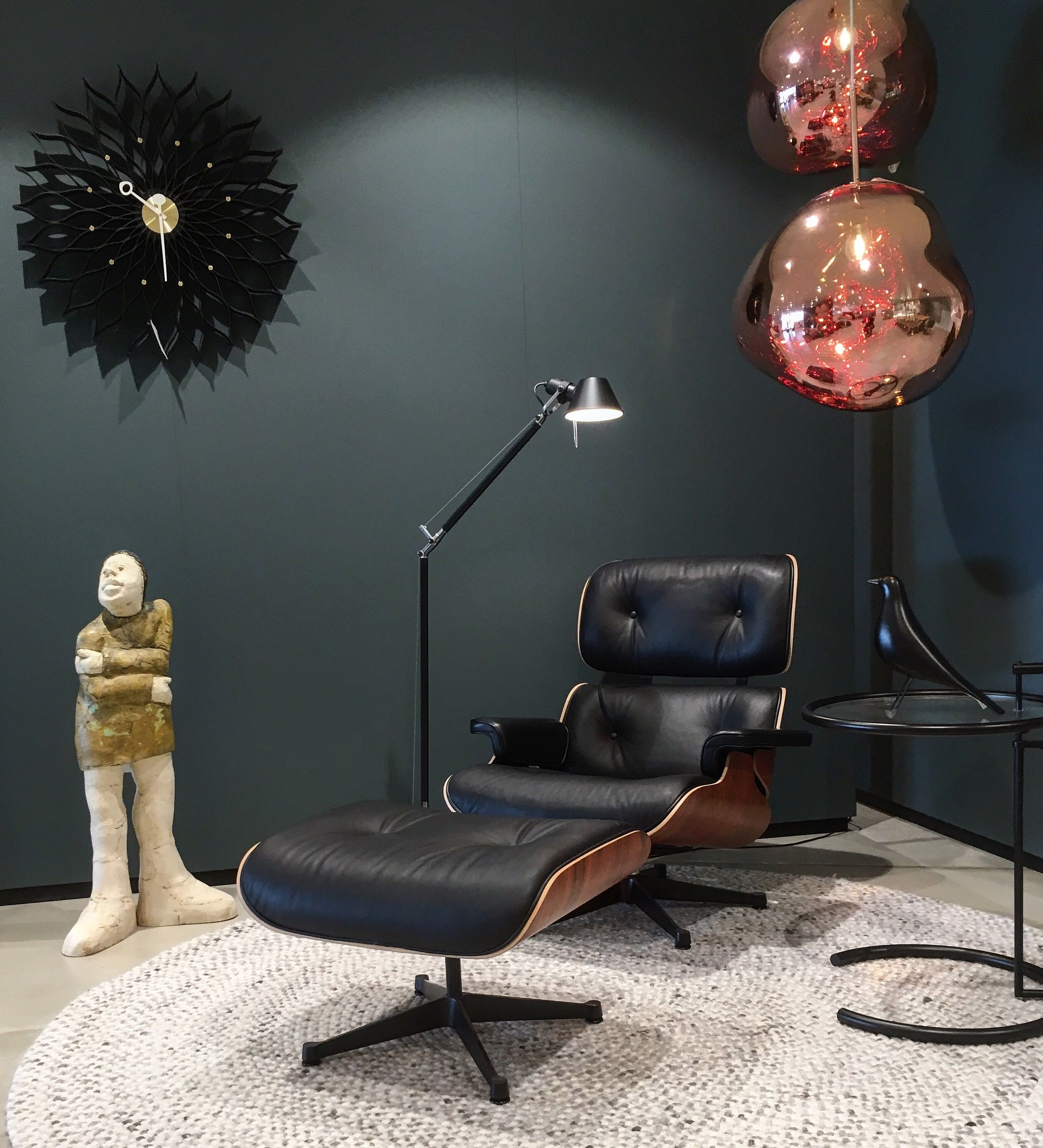 Eames Lounge Chair Charles & Ray Eames 1956 in bination with