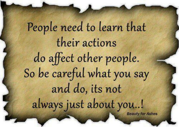 People need to learn....