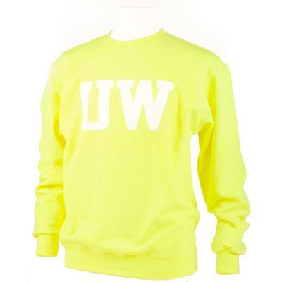 Flash Yellow Uw Crewneck Store Graphic Sweatshirt Sweatshirts