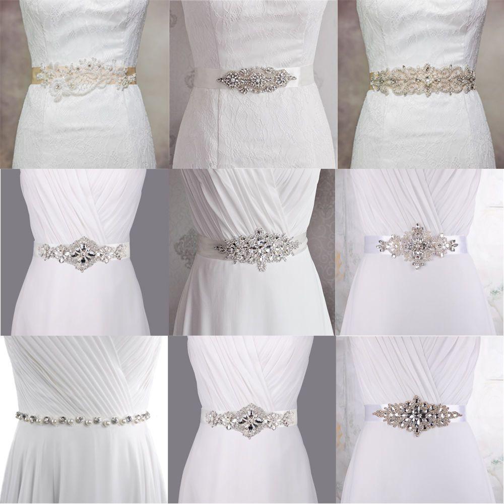 Pearl belt for wedding dress  Fashion Bridal Gown Crystal Sash Wedding Dress Pearl Belt Bridesmaid