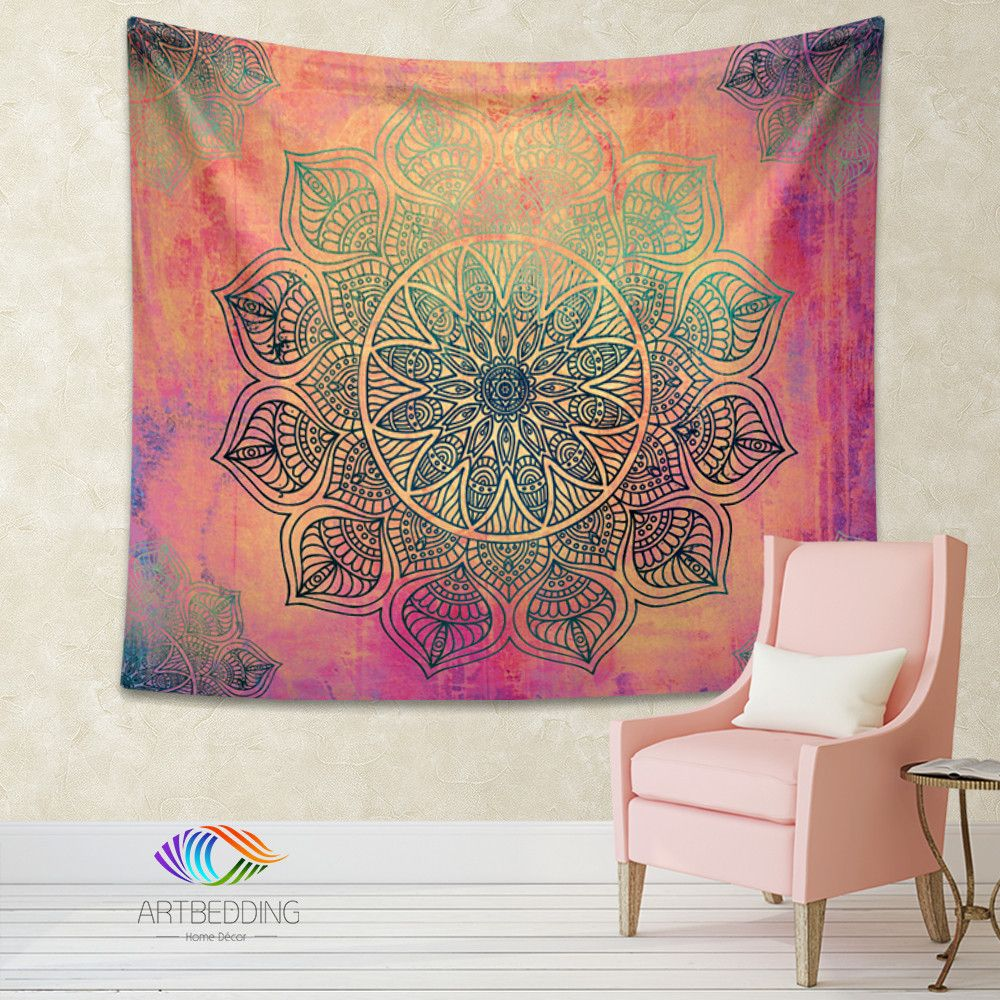 Bohemian Tapestry, Mandala tapestry wall hanging, bohemian ...
