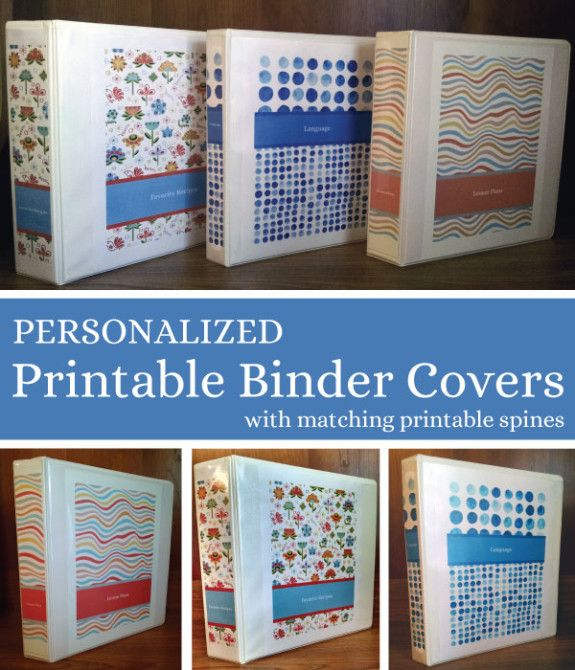 free printable binder cover and spine templates