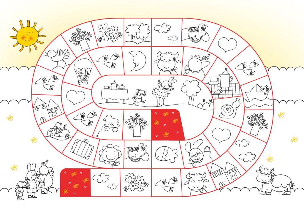 Gioco Da Colorare Per Bambini.Gioco Dell Oca Da Colorare Nicoletta Costa Giulio Coniglio Giochi Scuola Dell Infanzia Le Idee Della Scuola Giochi Per Bambini