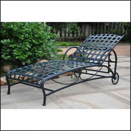 Wrought Iron Chaise Lounge With Wheels Wheels Tires Gallery