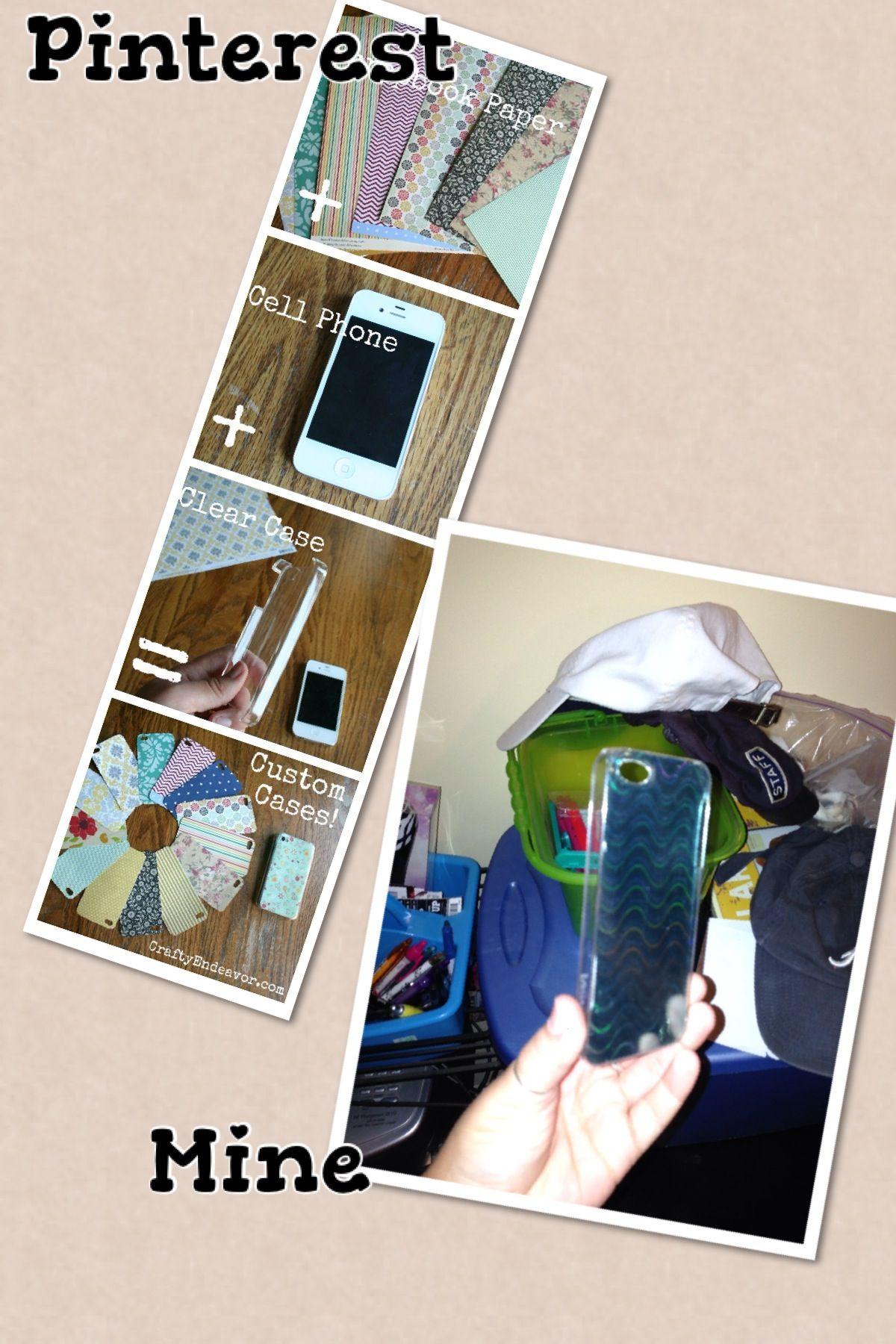 Scrapbook paper case - Clear Phone Case With Scrapbook Paper