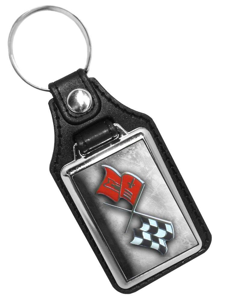 Chevrolet Flags Emblem Key Fob Brotherhood Products Leather