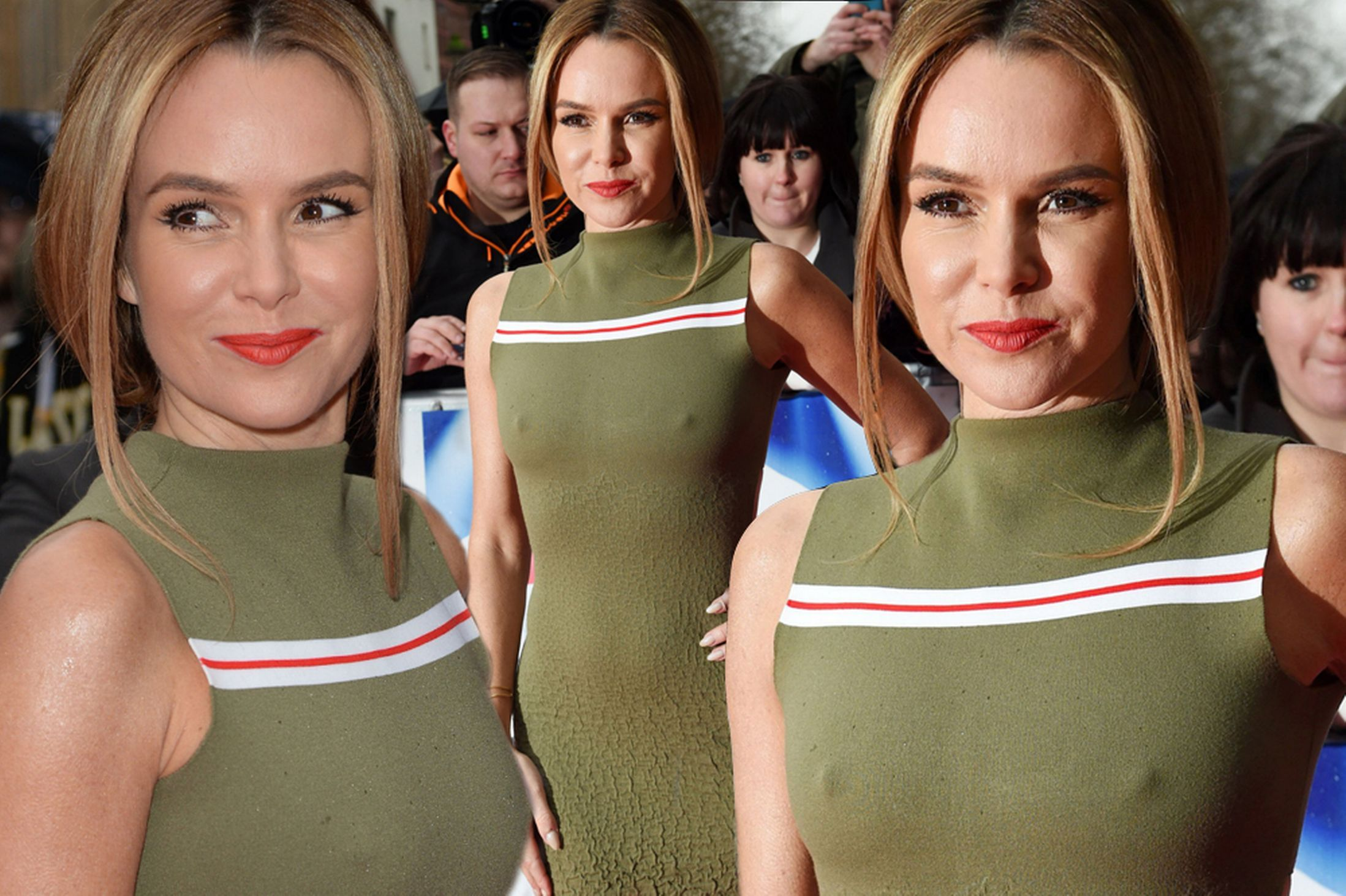 Braless Amanda Holden suffers another wardrobe fail in clinging ...