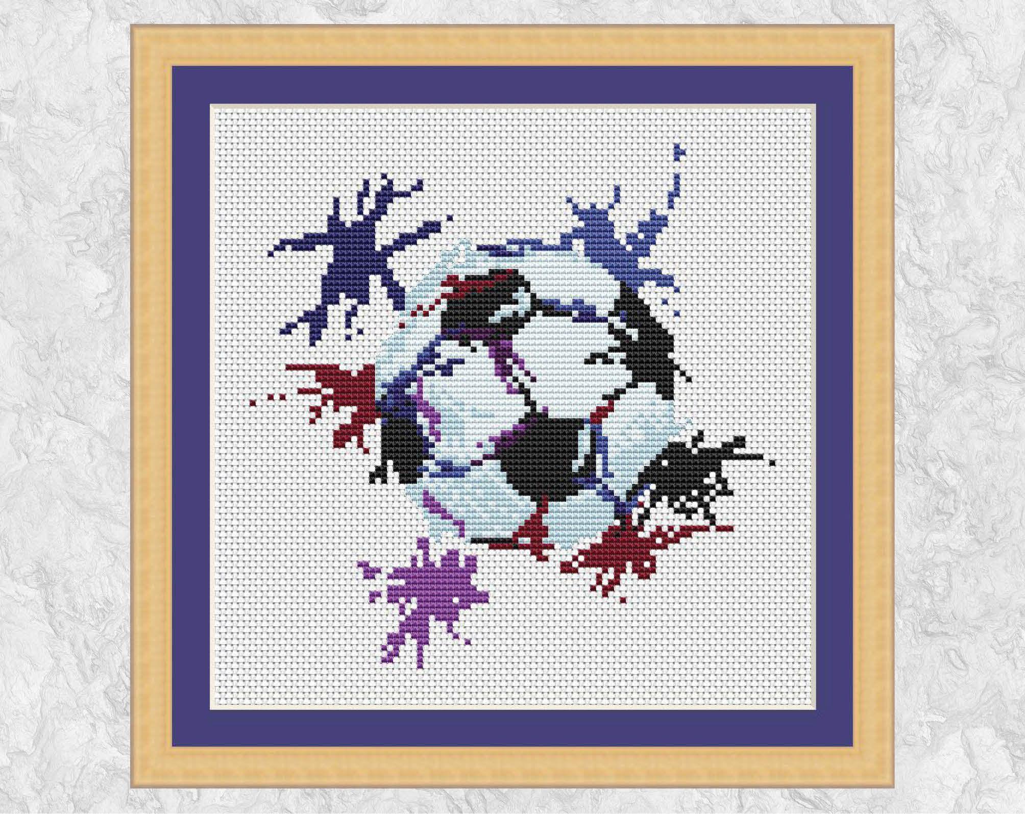 Football cross stitch pattern modern soccer counted cross