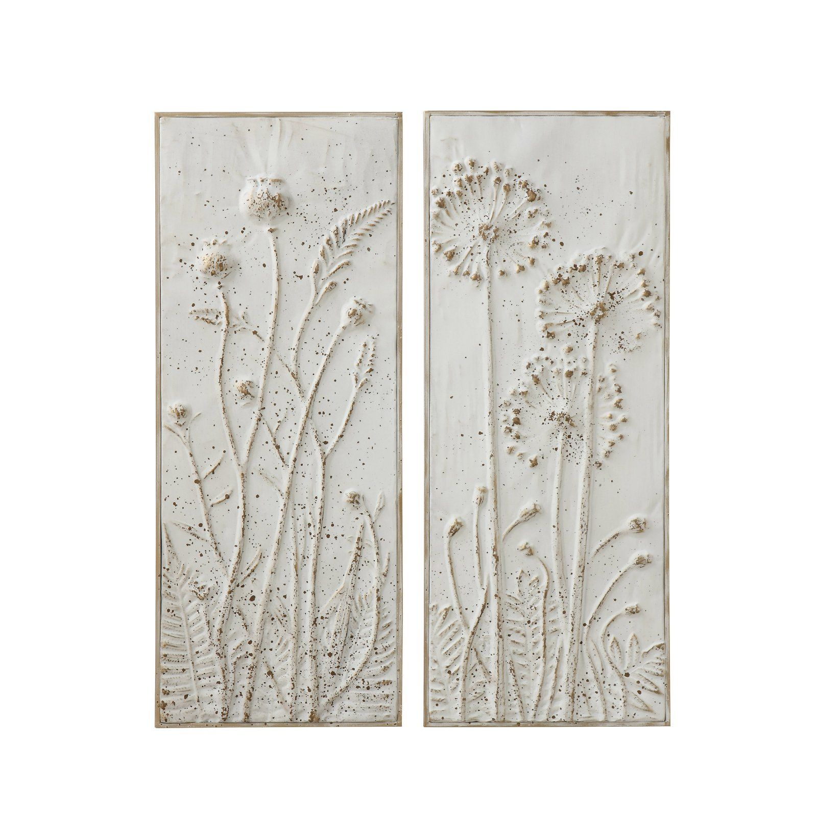 3r Studios Embossed Floral Metal Wall Decor Set Of 2 In 2020 Metal Wall Flowers Carved Wood Wall Art Wall Decor