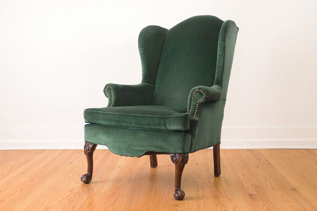 Awe Inspiring Emerald Velvet Wing Chair Home Wing Chair Velvet Gmtry Best Dining Table And Chair Ideas Images Gmtryco