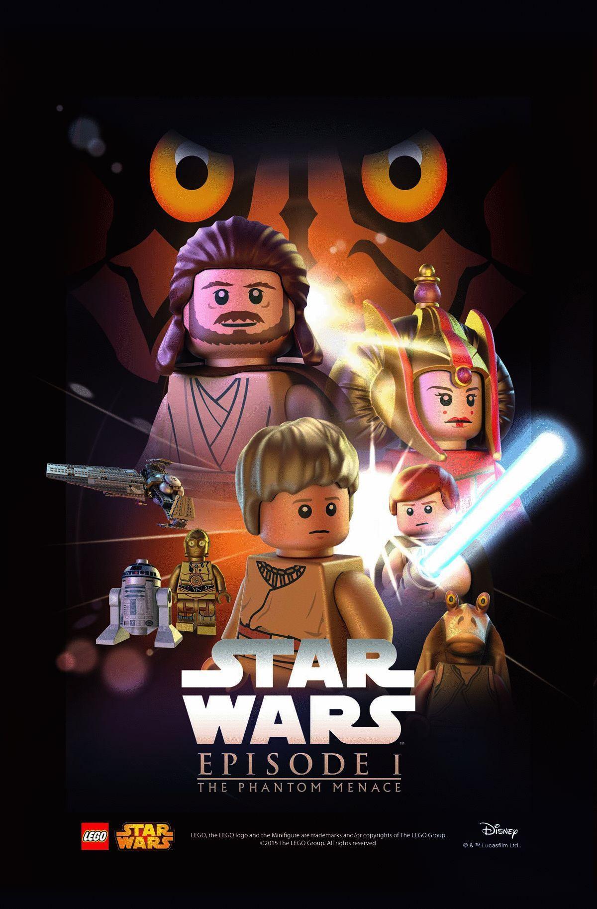 Lego Spiderman Malvorlagen Star Wars 1 Lego Spiderman: Lego Star Wars Episode 1 Poster