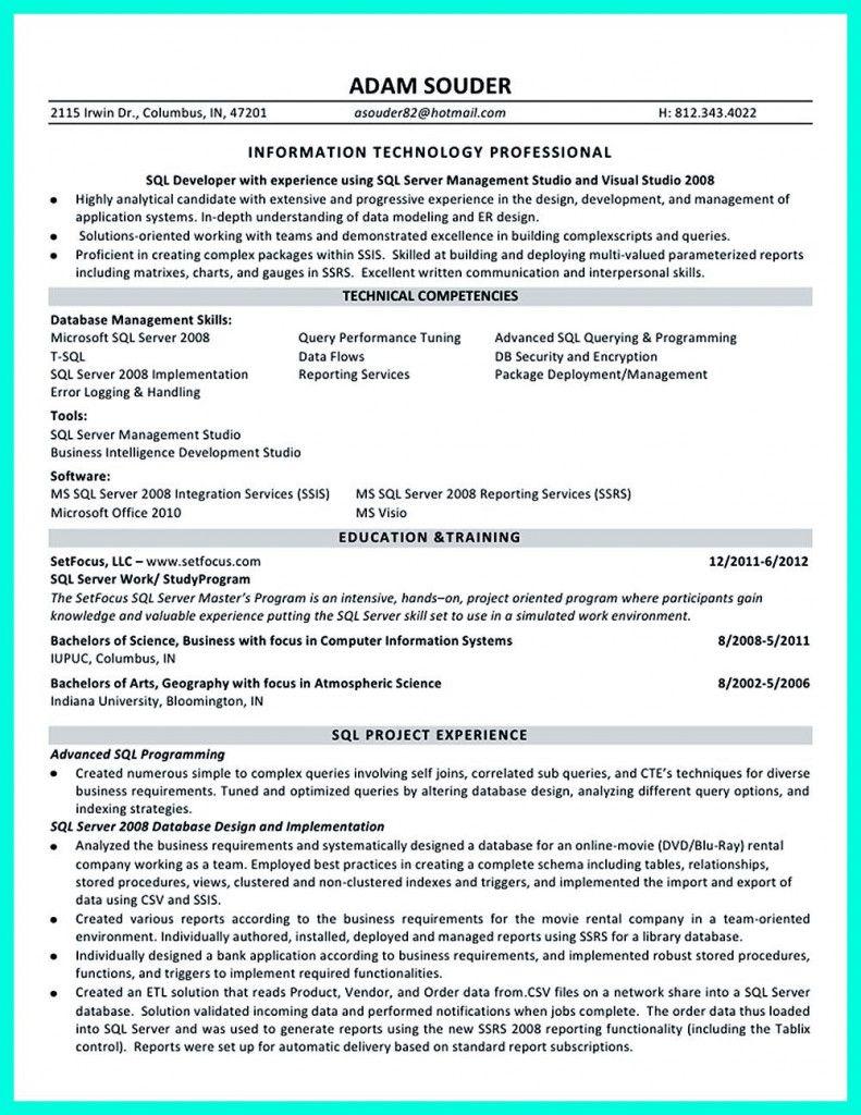 Database Developer Resume 2021 Resume Examples Resume Job Resume Examples