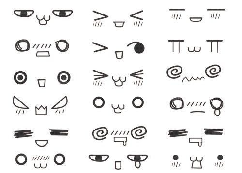 Chibi Faces I Do Hope These Come In Handy Imagenes De Ojos Como Dibujar Kawaii Caritas Kawaii Para Dibujar