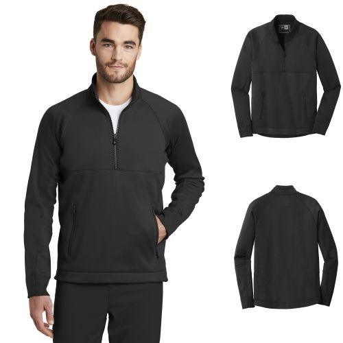 New Era NEA523 Mens Venue Fleece Quarter Zip Pullover from NYFifth
