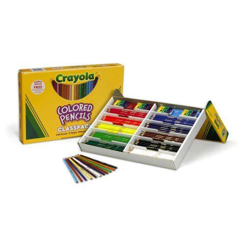 22 15 Crayola 240ct Colored Pencils Classpack 12 Colors Crayola