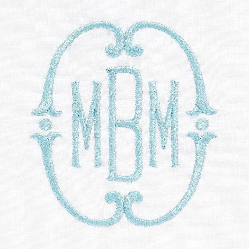 Crepe Myrtle Embroidery monogram, Applique monogram