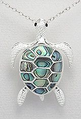 Sterling silver sea turtle necklace 854 with abalone shell 7900 sterling silver sea turtle necklace 854 with abalone shell 7900 giant sea turtle and aloadofball Image collections