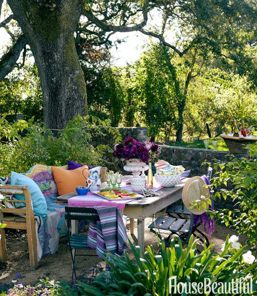 Colorful Outdoor Rooms: OPEN HOUSE SUNDAY: COLORFUL, SPIRITED CALIFORNIA COTTAGE