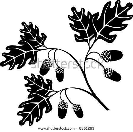 Oak Leaves and Acorns Stencil The Artful Stencil