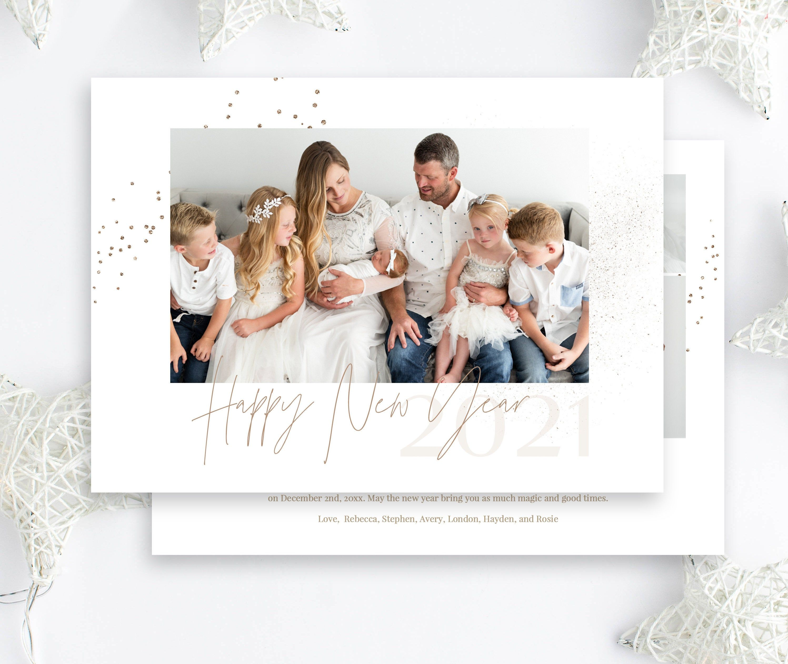 2021 New Year Photo Card New Years Photo Announcement New Etsy Happy New Year Photo New Year Photos Photo Announcement