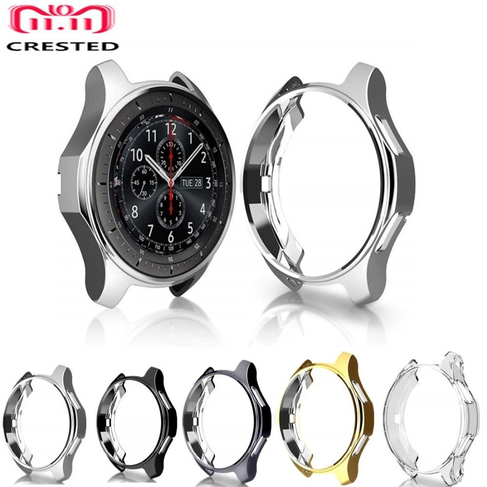 Crested Case Cover For Samsung Galaxy Watch 46mm Gear S3 Frontier Soft Tpu Plated Replacement Protective Bumper Frame Shell Case Cover Samsung Galaxy Iphone Case Covers