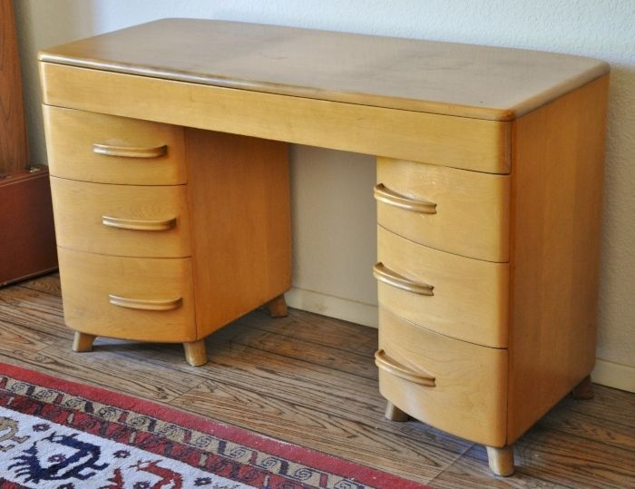 Heywood Wakefield Kneehole Desk Vintage