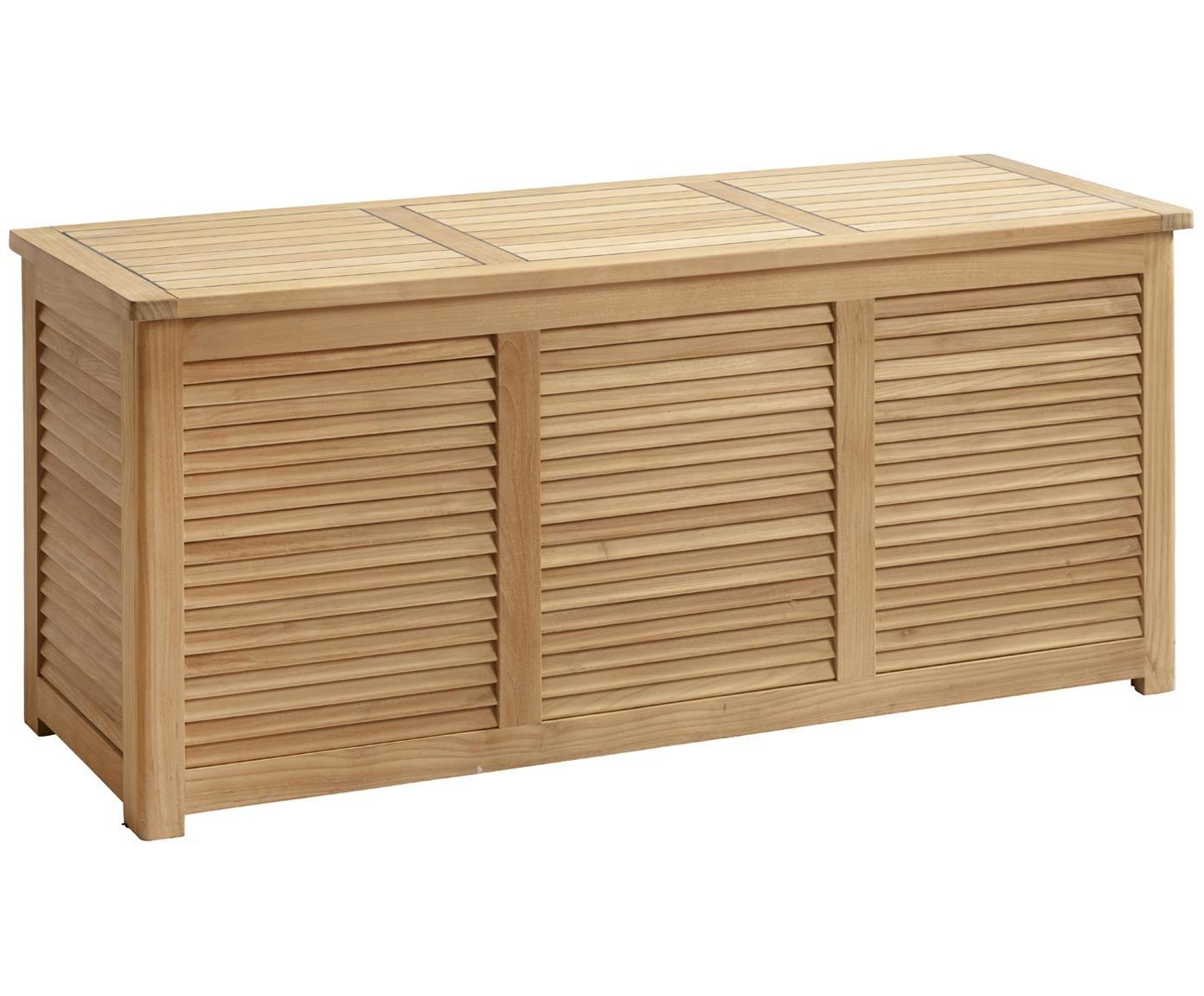 Auflagentruhe Storage Aus Holz En 2020 Rangement Bois Salle De Bain En Bambou Coffre De Rangement