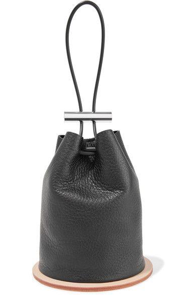 Building Block Disc Textured Leather Bucket Bag Buildingblock Bags Hand