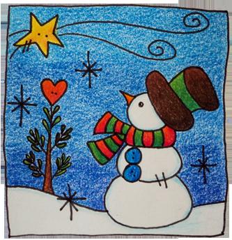 Tarjetas de navidad manualidades varias t cnicas - Dibujos navidenos originales ...