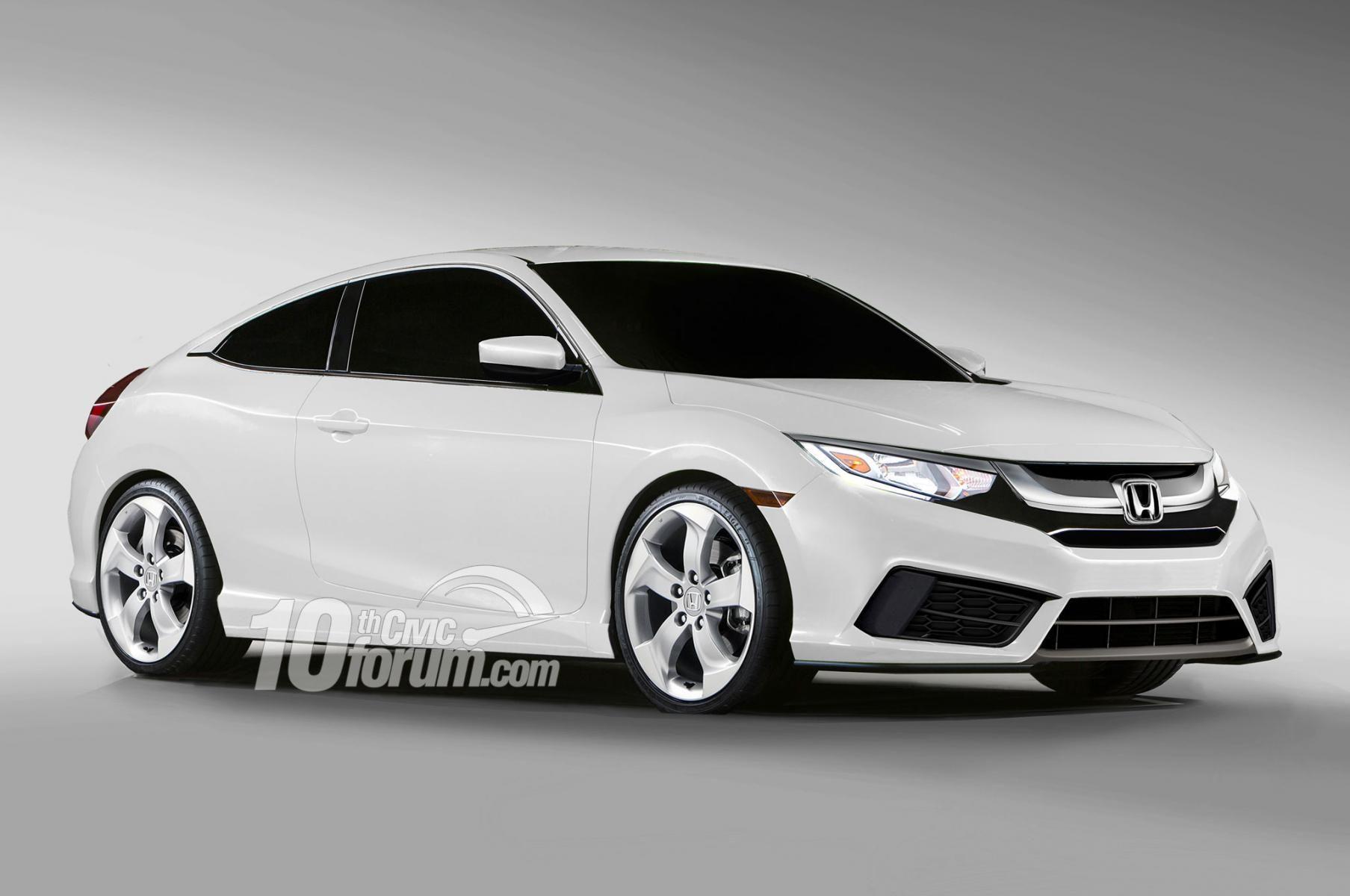 2016 honda civic sedan coupe hatchback renders leaked 10th gen civic forum