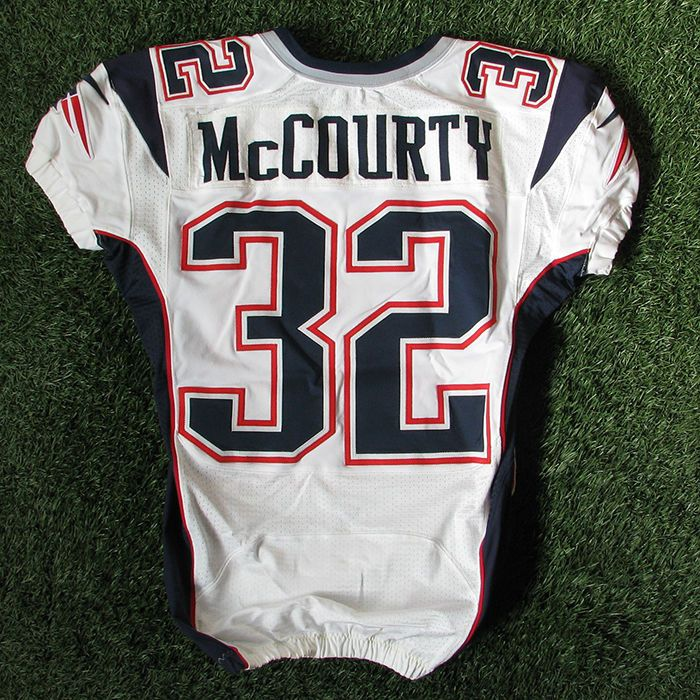 69f76c82049 2012 devin mccourty team issued #32 nike white/away new england patriots  jersey from $100.0
