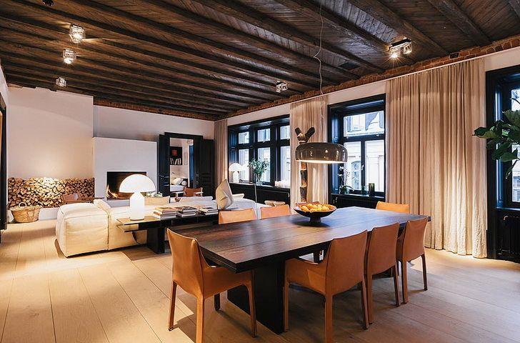 L appartamento un duplex in un palazzo centenario nel centro di