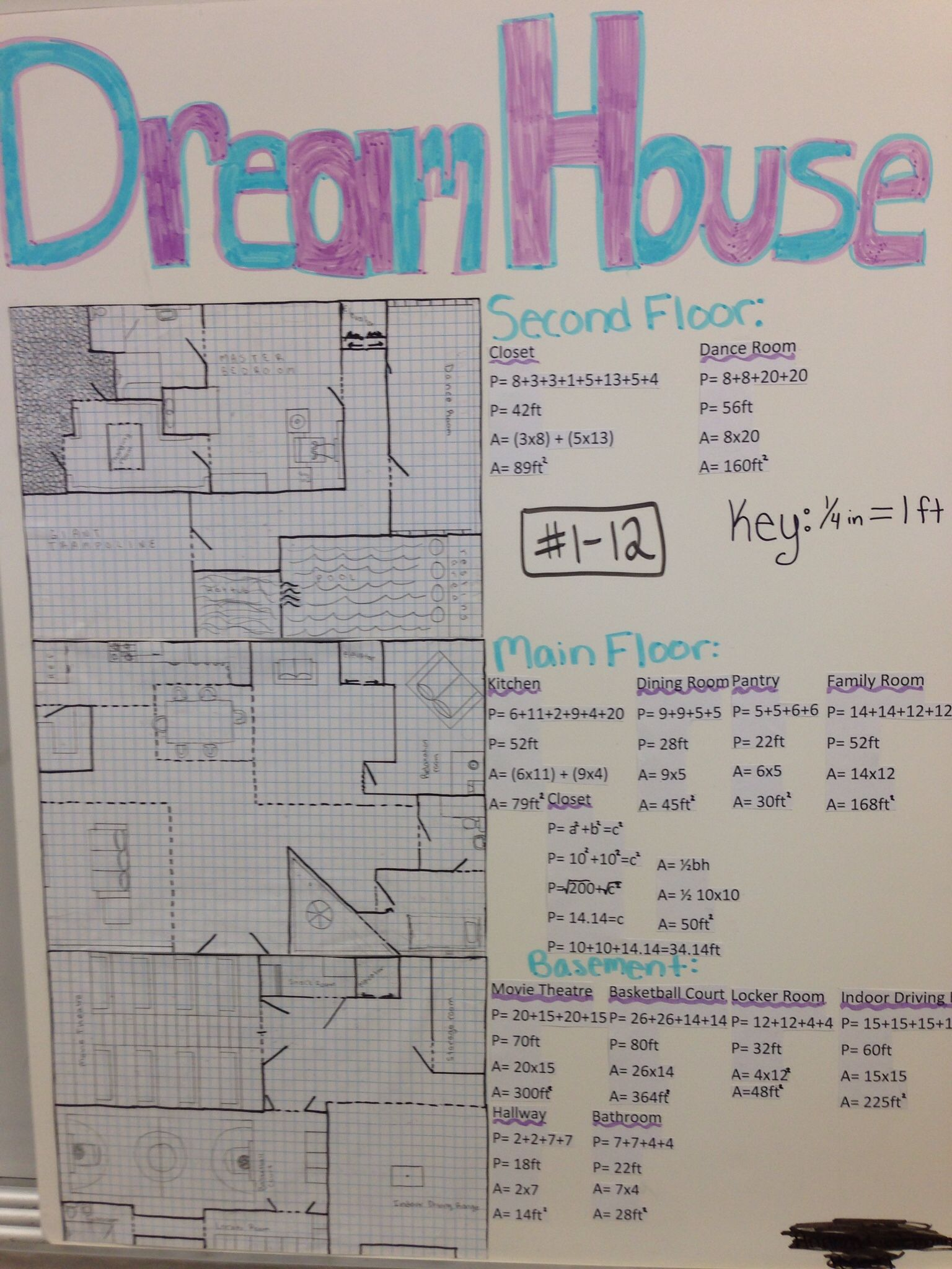 Every year my 9th grade math students design their own Dream House