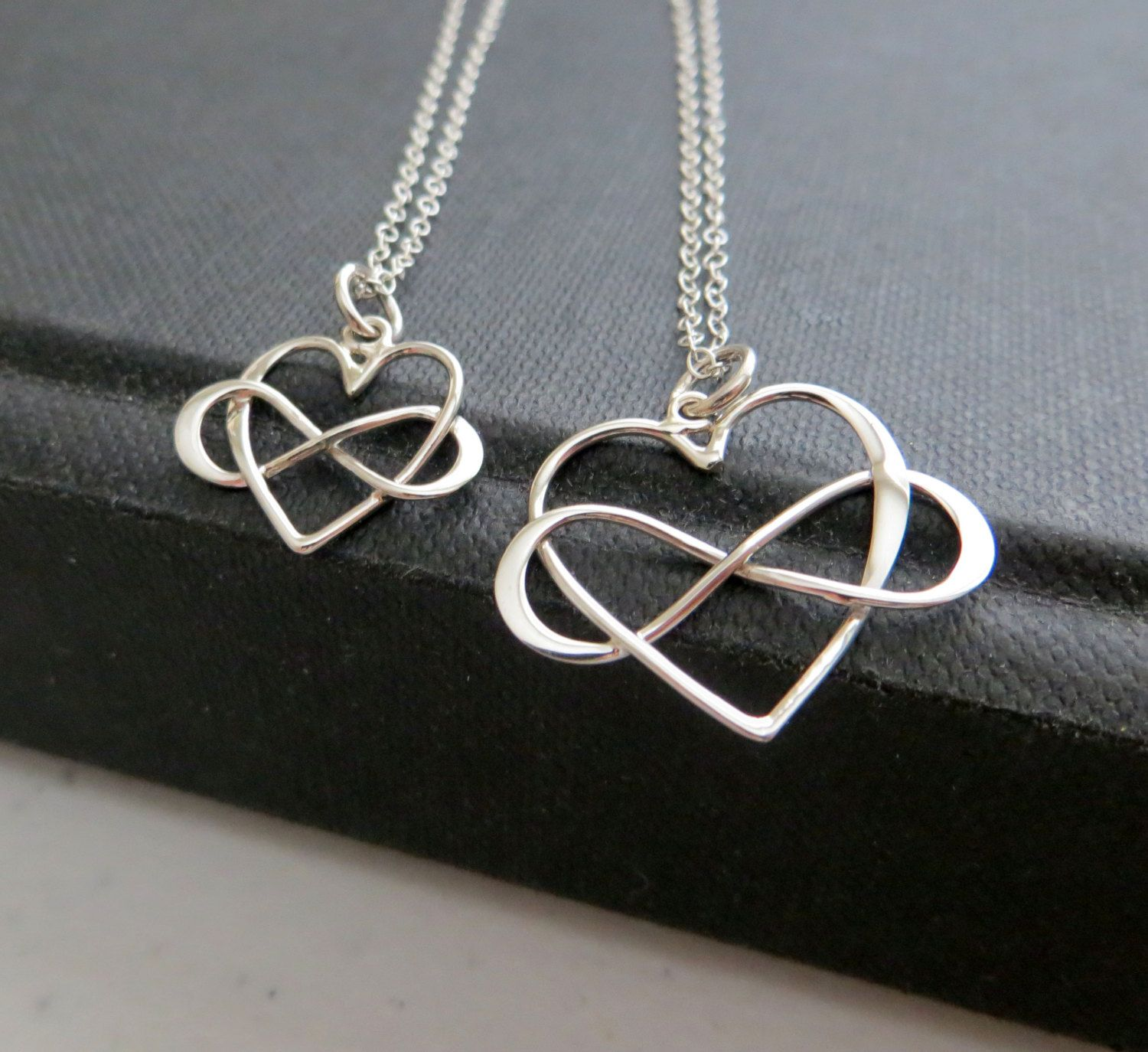 silver infinity necklace simply enticing size share noble studio of set jewelry large mor items comfortable ga mother daughter infinitynecklace heart