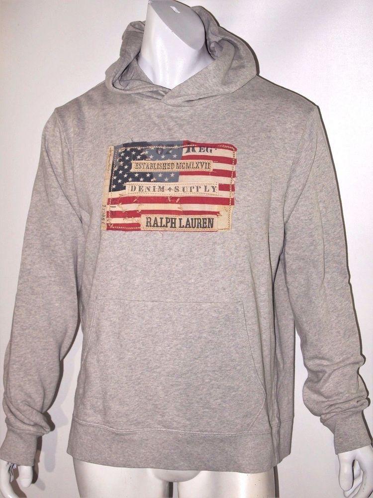 Denim & Supply Ralph Lauren American flag french terry hoodie size xl  #DenimSupplyRalphLauren #Hoodie