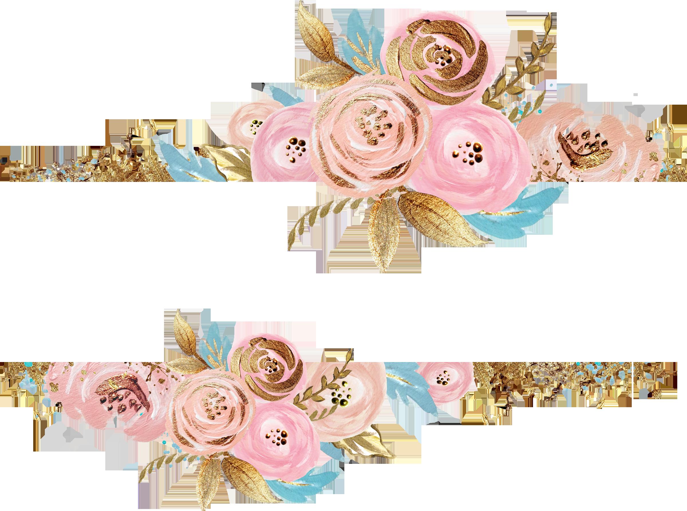 Floral Watercolor Flower Clipart Watercolor Flowers