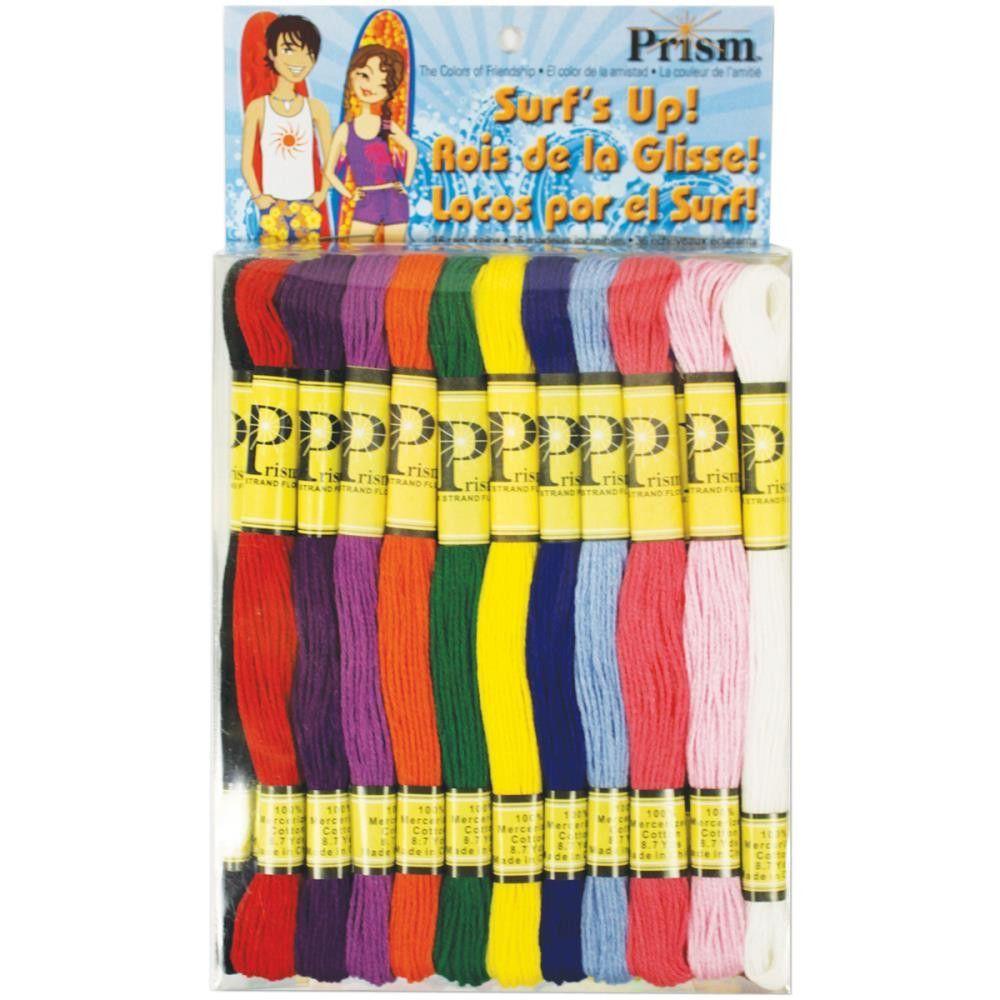 Prism 6-Strand Floss Pack 8.7yd 24/Pkg-Surf's Up