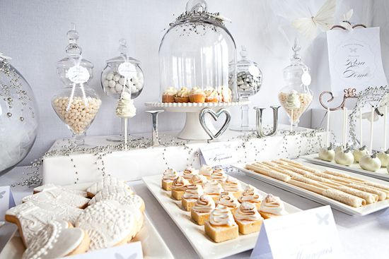 white cream ivory candy dessert tables