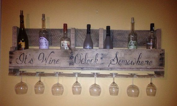 Diy Pallet Wine Bottle Holder Large Reclaimed Wood Pallet Wine