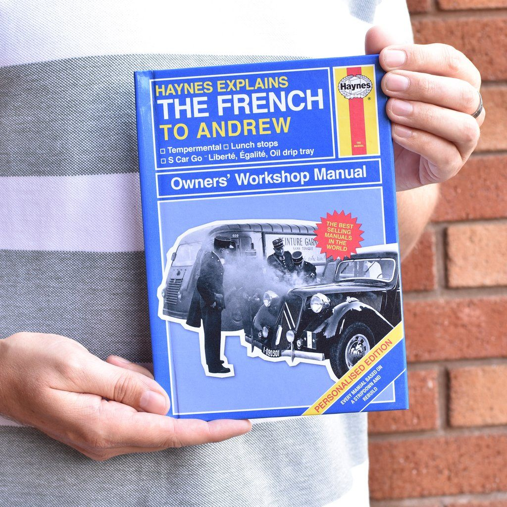 Personalised Haynes Explains the French in 2020 Uk gifts