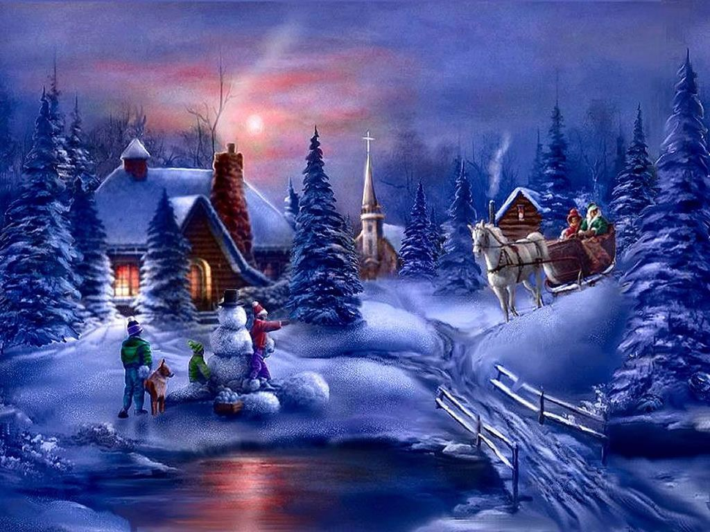 Best Free Christmas Background Hd Christmas Scenes Animated Christmas Winter Scenes