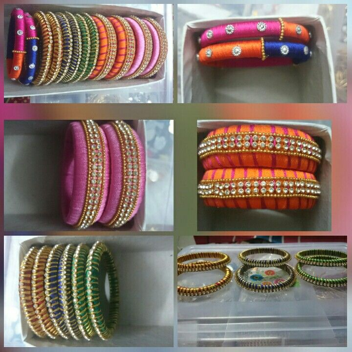 Silk thread bangles are very popular in chennai   Items