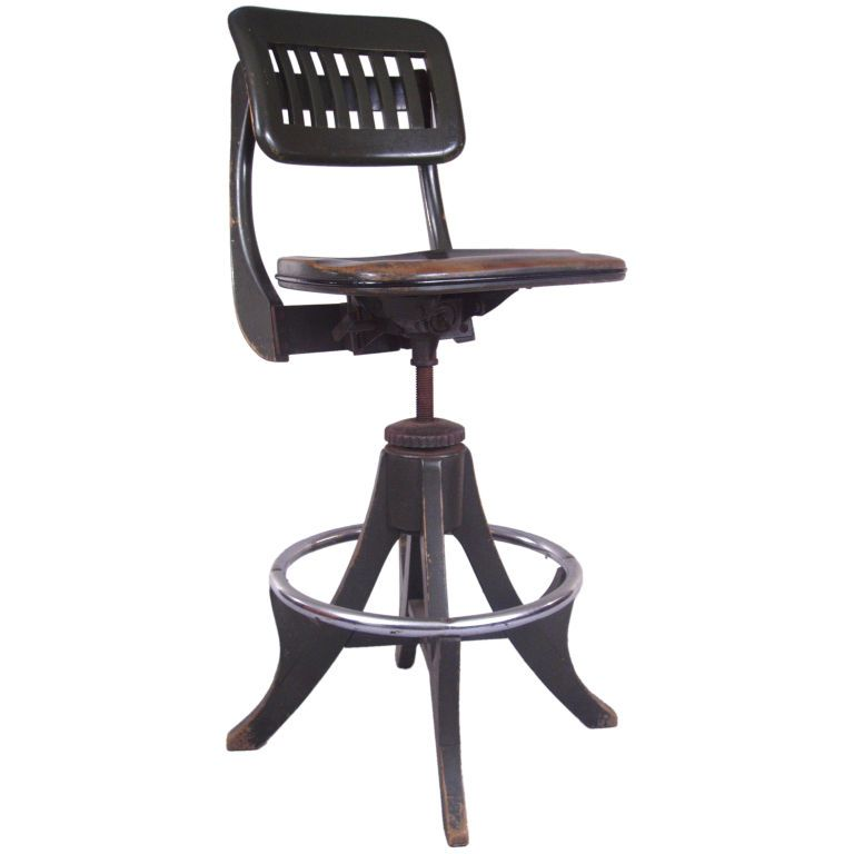 antique adjustable drafting chair by sikes