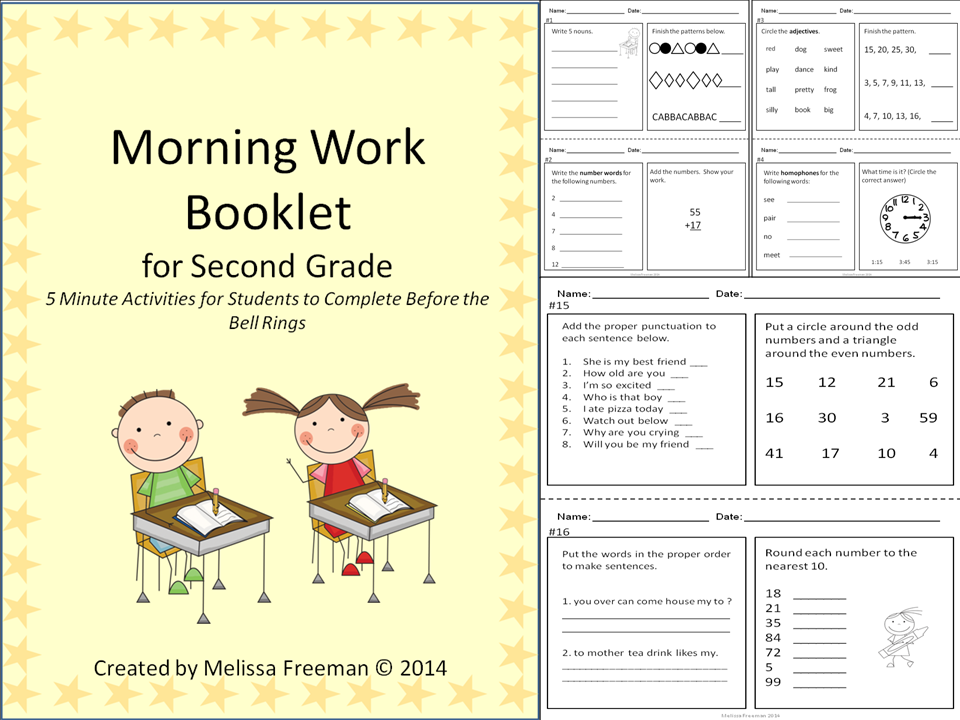 Morning Work for Grade 2 | Educational Ideas | Morning work ...