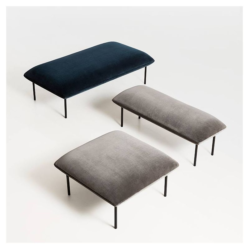 Nakki Bench Banc Woud Rembourre Design M Tolvanen Pouf Rembourre Decoration Chambre Mobilier De Salon