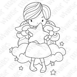 Shine Like The Stars. Coloring Page. Vector Illustration. Stock ... | 250x250