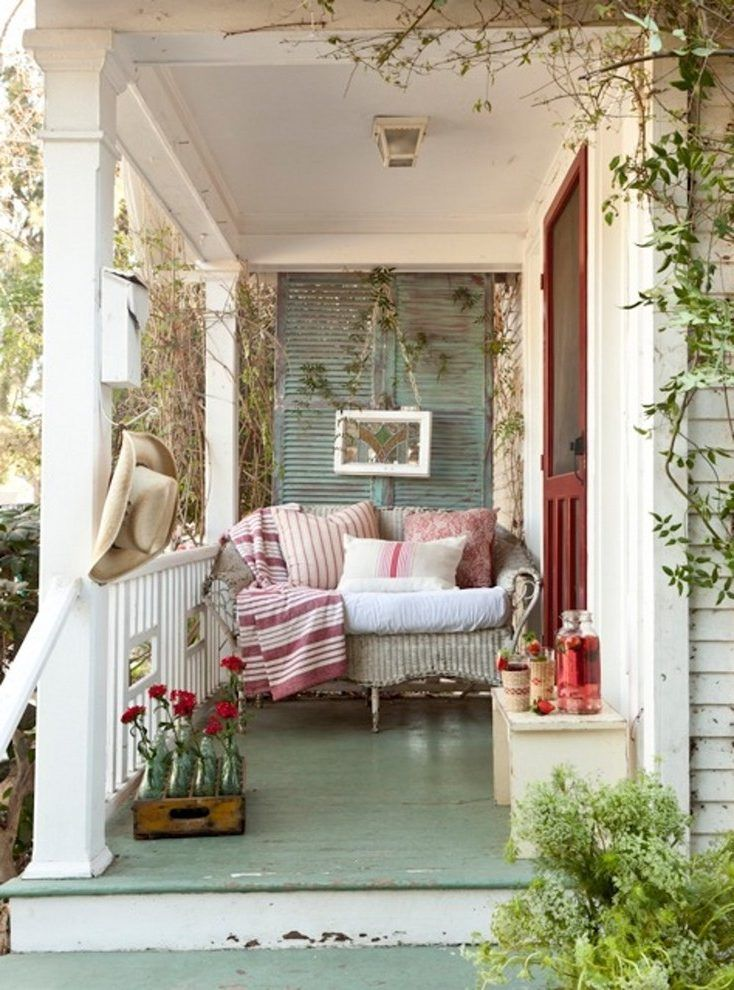 Front Porch Chairs Shabby Chic Style With Entry Bench Transitional Outdoor Flush Jpg 734 990